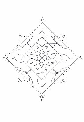 Mandala à colorier - Losange (à télécharger)