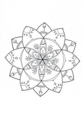 Mandala à colorier - Fleur (à télécharger)