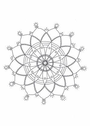 Mandala à colorier - Treize pétales  (à télécharger)