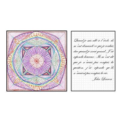 "Carte postale simple - Mandalâme ""Le Médium"" + citation"