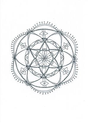 Mandala à colorier - Vision (à télécharger)