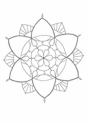 Mandala à colorier - Coeur de fleur  (à télécharger)