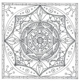"""Mandala à colorier - """"Temple"""""""
