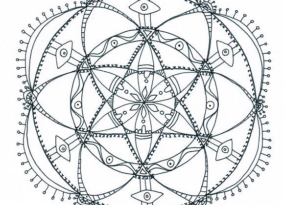 Mandala à colorier - Vision