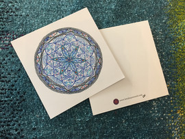 """Carte postale simple avec le mandalâme """"La Mère"""""""