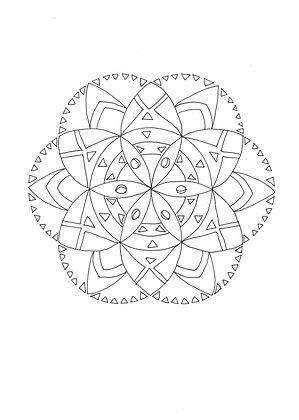 Mandala à colorier - Rayon de fleur (à télécharger)