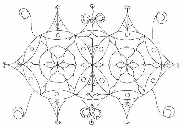 Mandala à colorier - Au-delà des apparences (à télécharger)