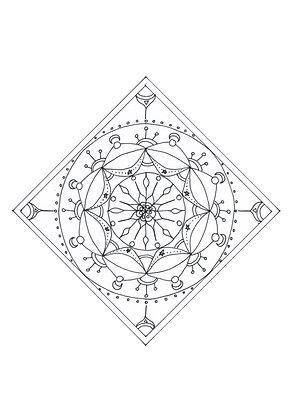 Mandala à colorier - Losangétoile (à télécharger)