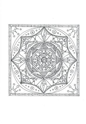 Mandala à colorier - Temple (à télécharger)