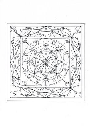 Mandala à colorier - Cosmos (à télécharger)