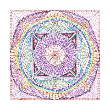 """Carte postale simple - Mandalâme """"Le Médium"""""""
