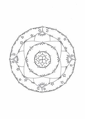 Mandala à colorier - Délicatesse (à télécharger)