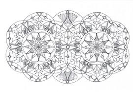"""Mandala à colorier - """"Yeux de chouette"""""""