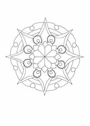 Mandala à colorier - Étincelle (à télécharger)