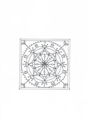 Mandala à colorier - Carrétoile (à télécharger)