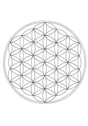 Mandala à colorier - Fleur de vie (à télécharger)