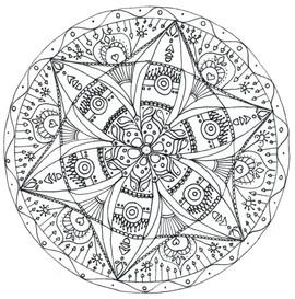 """Mandala à colorier - """"Ethnique"""""""
