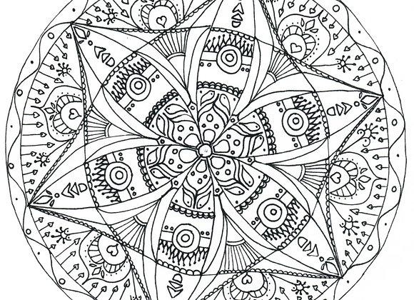 Mandala à colorier - Ethnique