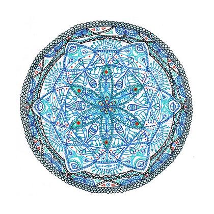 """Carte postale simple - Mandalâme """"La Mère"""""""