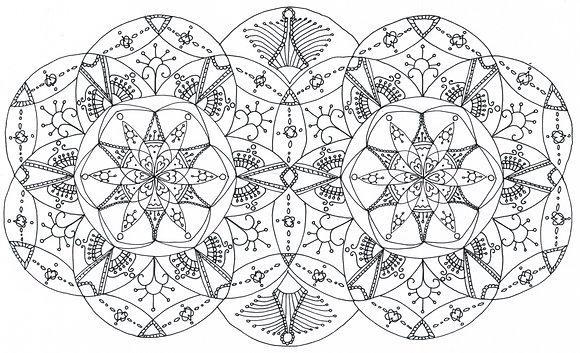 Mandala à colorier - Yeux de chouette