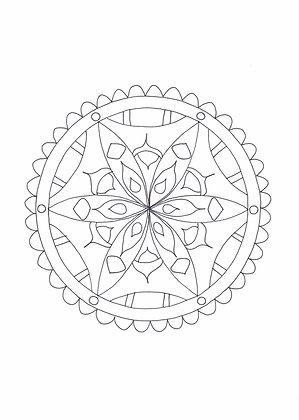 Mandala à colorier - Broche (à télécharger)