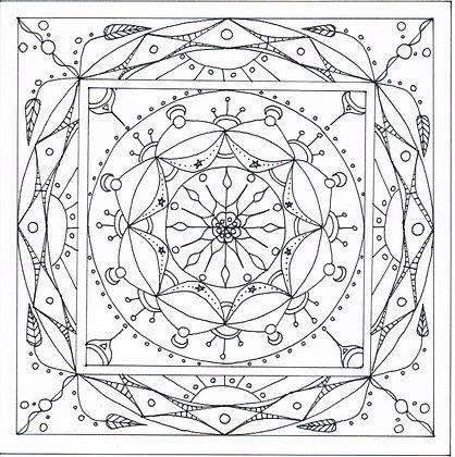 Mandala à colorier - Céleste