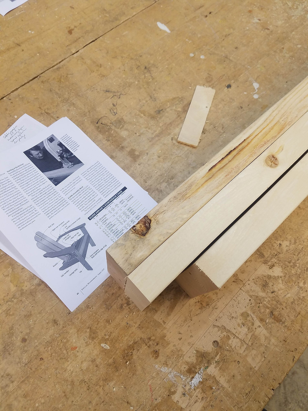 pine, Adirondack chair, blueprints