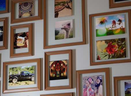 3. DIY Floating Picture Frames