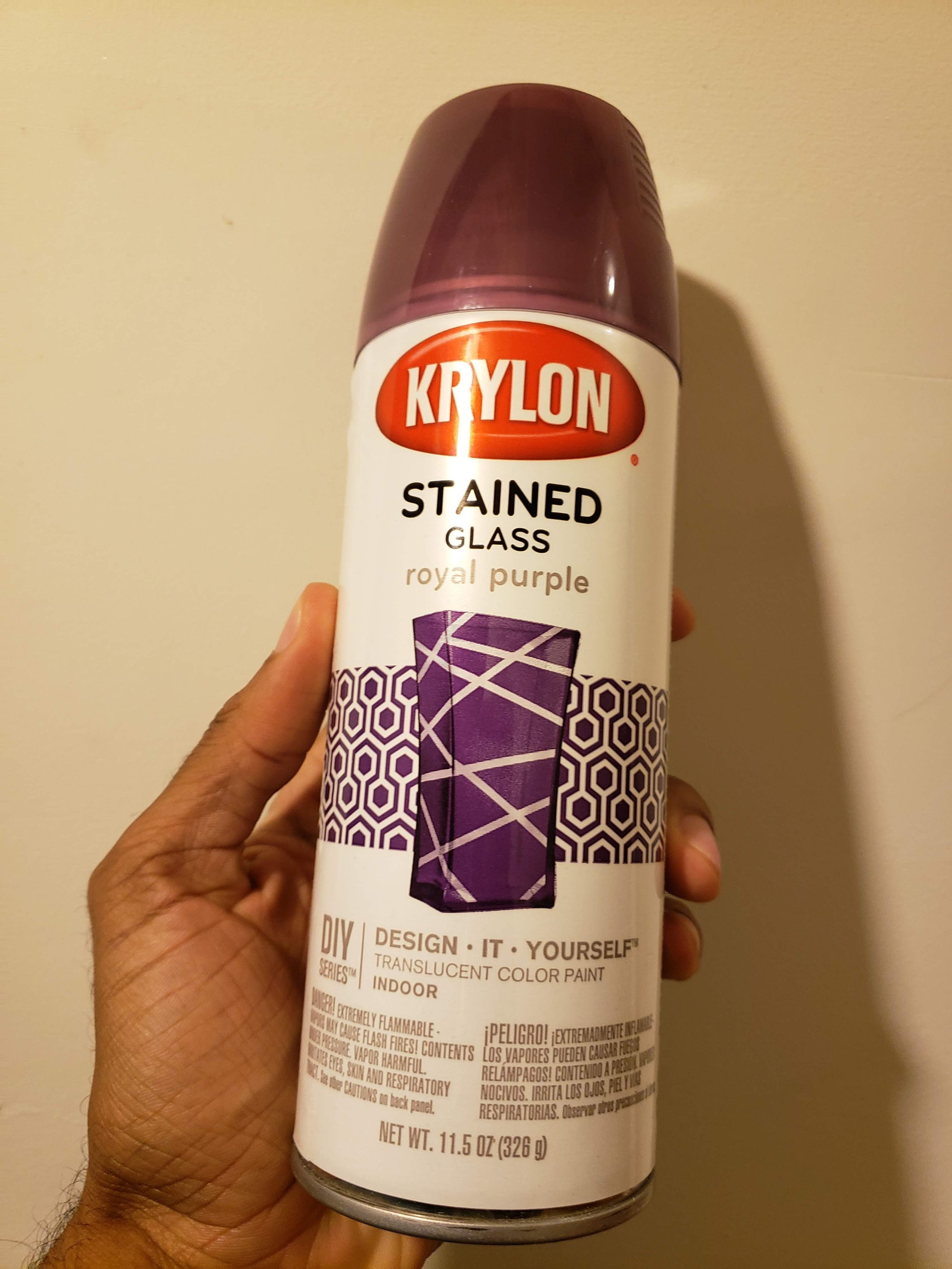 Krylon, stained glass, royal purple, spray paint,wood shop, DIY, Wood projects, wood frame, shadow box, crayola crayon, dremel router, inlay, epoxy