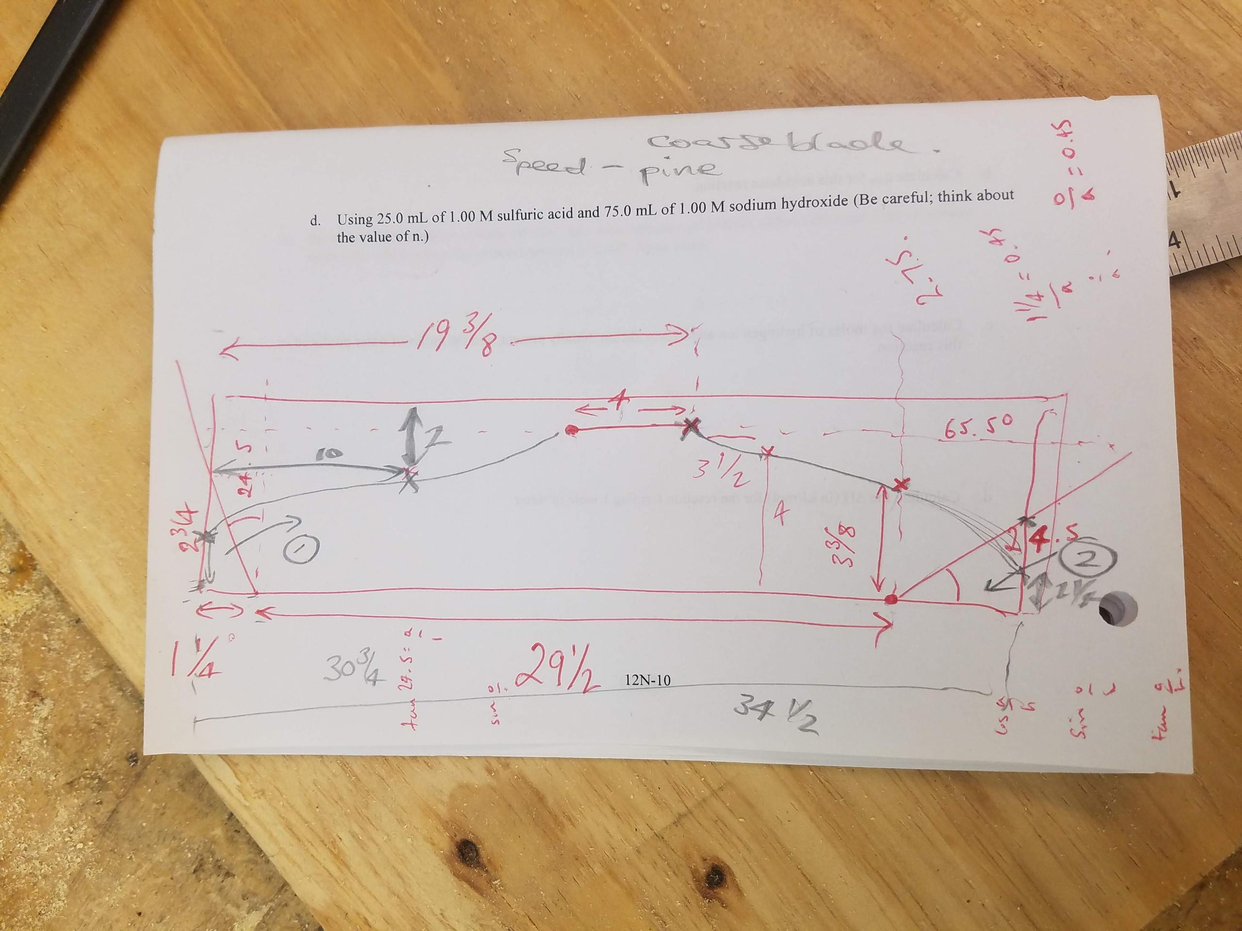 Side member, blueprint, dimensions, measurements, Adirondack