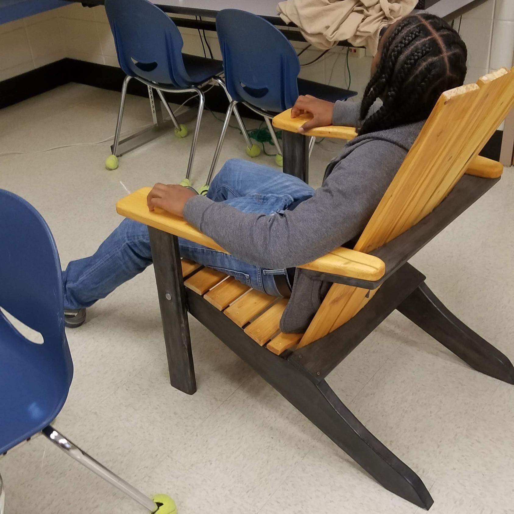comfort, wooden chair, relax, braids, black boy joy