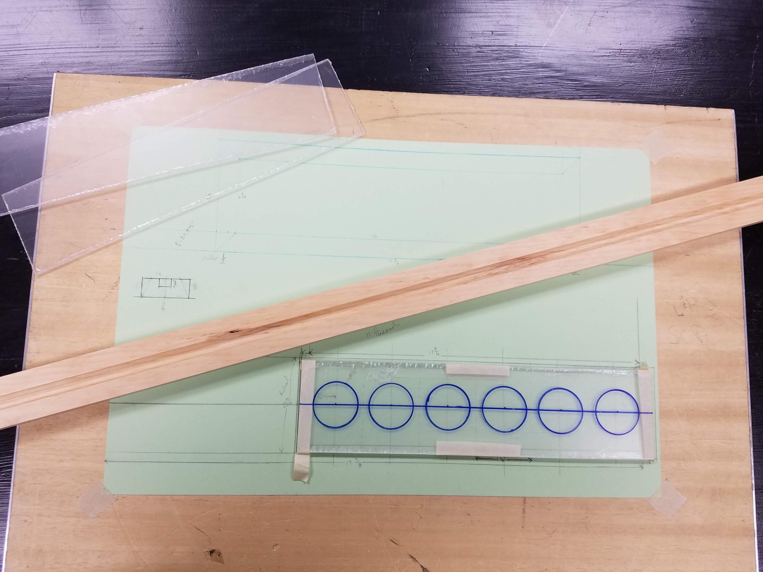 drafting board, Plexiglas