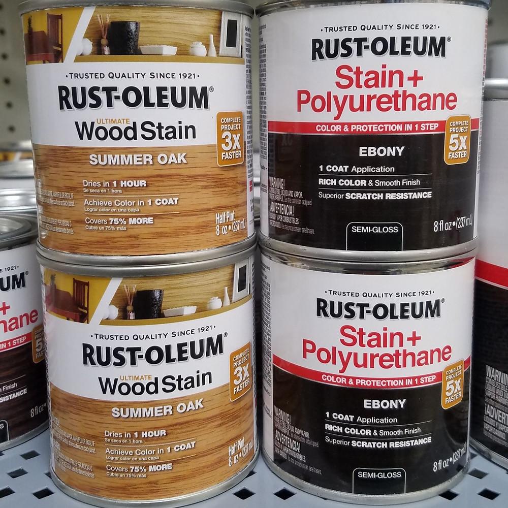 paint stains, Summer oak, Ebony , Rusto-leum, rustoleum