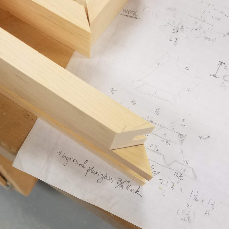 plans, blueprint, wood frame, Marvel, wood shop,