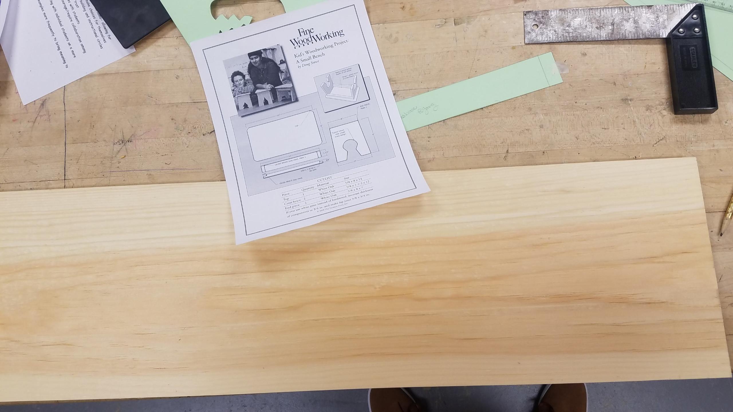 t-rex, dinosaur, kids, woodworking, stool, project, slab, pine, stencil, blueprint