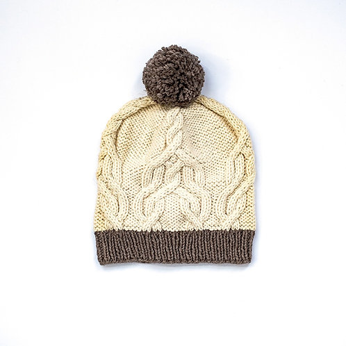 Off-White/Brown Maera Hat