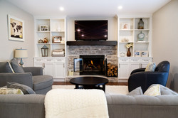 fireplace and surround built ins