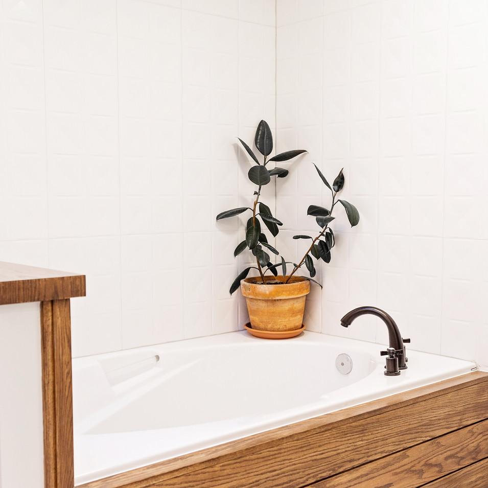 Wood Accent Tub