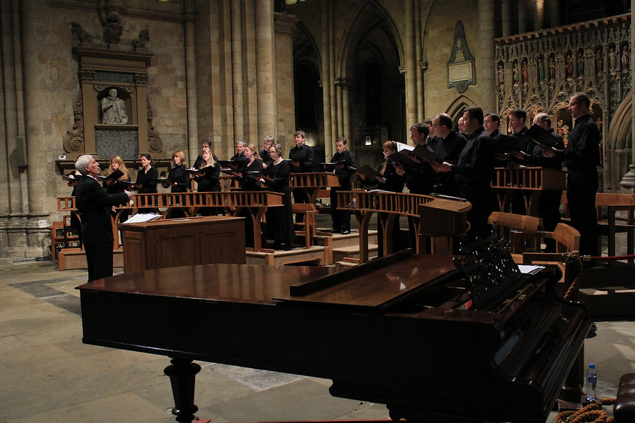 C3 performing in Ripon Cathedral