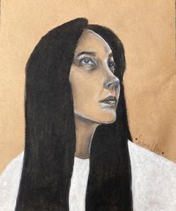 Clay_Sedona_portrait on toned paper