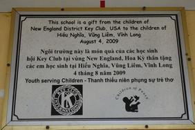 Dedication at Hiếu Nghĩa school