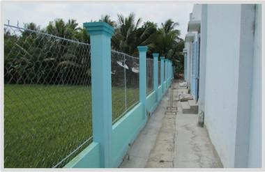 Fence Built in 2014 that Surrounds Schoo