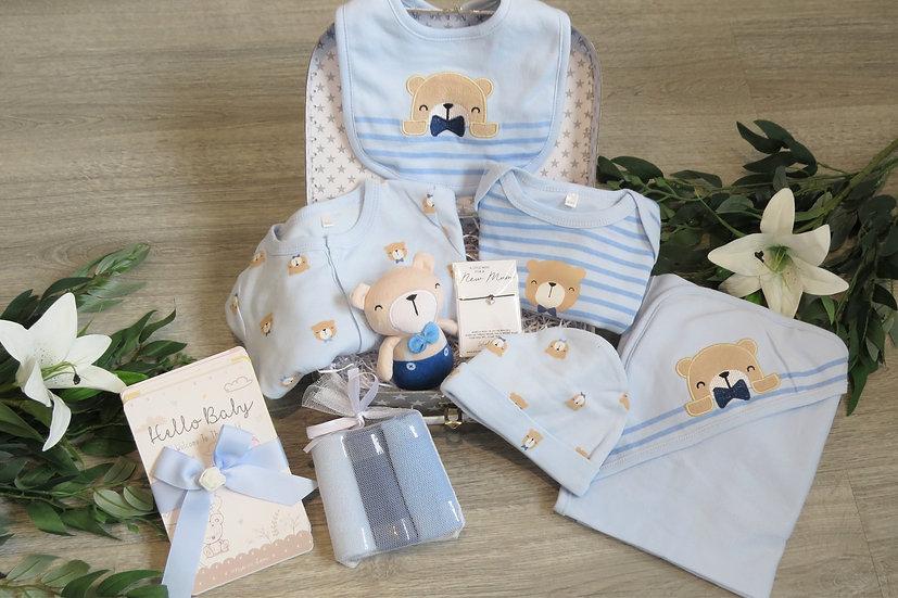 Baby boy bear gift set