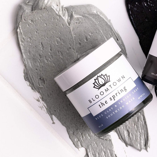 Bloomtown eco-friendly clay mask with brush