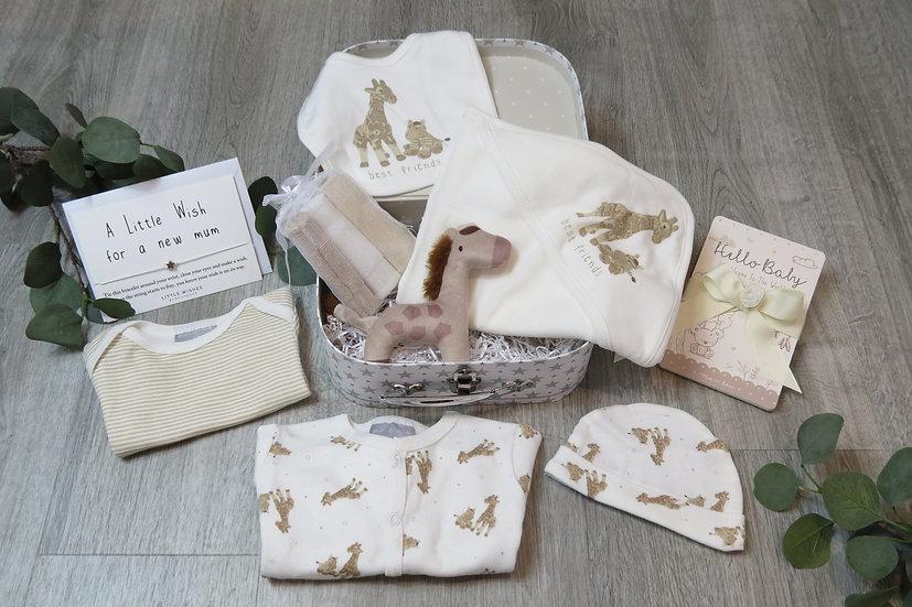 Baby giraffe gift set