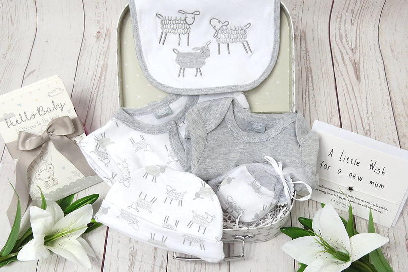 Baby sheep gift set, baby hamper