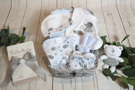 Baby gift set with teddy, Baby hamper