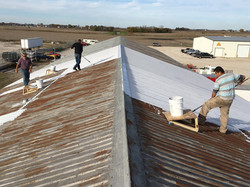 Continued work on roof