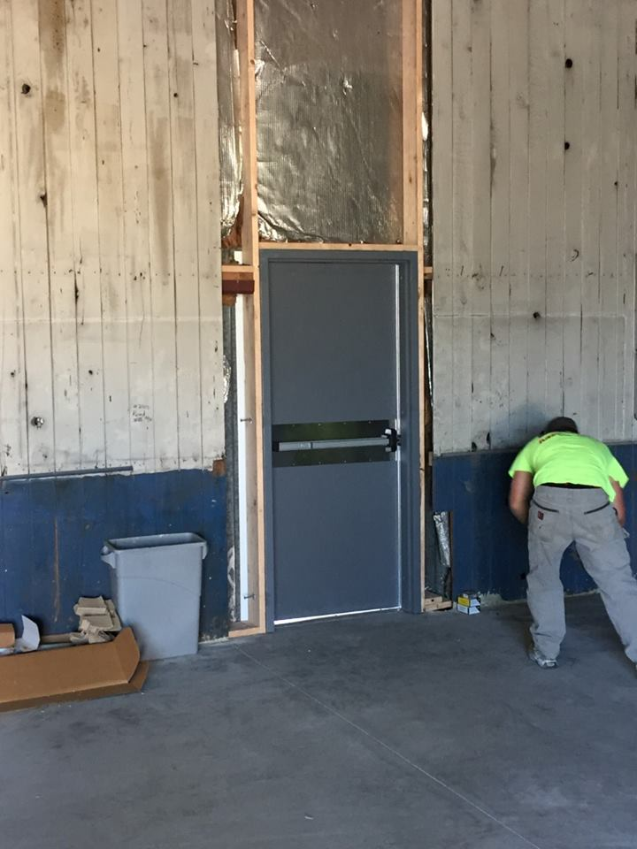 New exit door