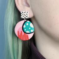 COLOUR POP PINK Earring